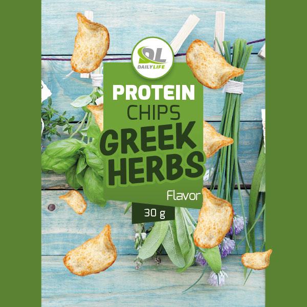 Protein chips greek herbs
