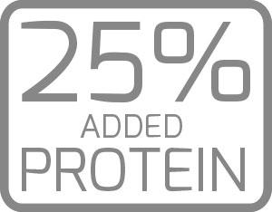25% di proteine