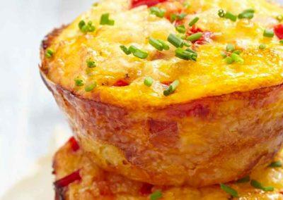 Muffin con Jerky e peperoni rossi