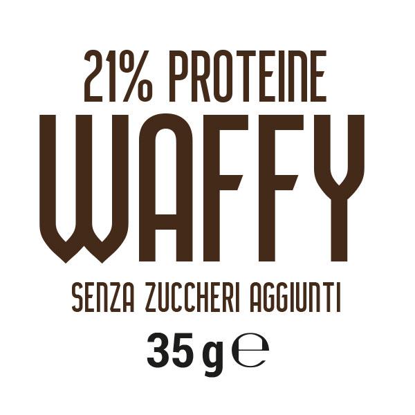 Wafer proteico senza zuccheri aggiunti Waffy